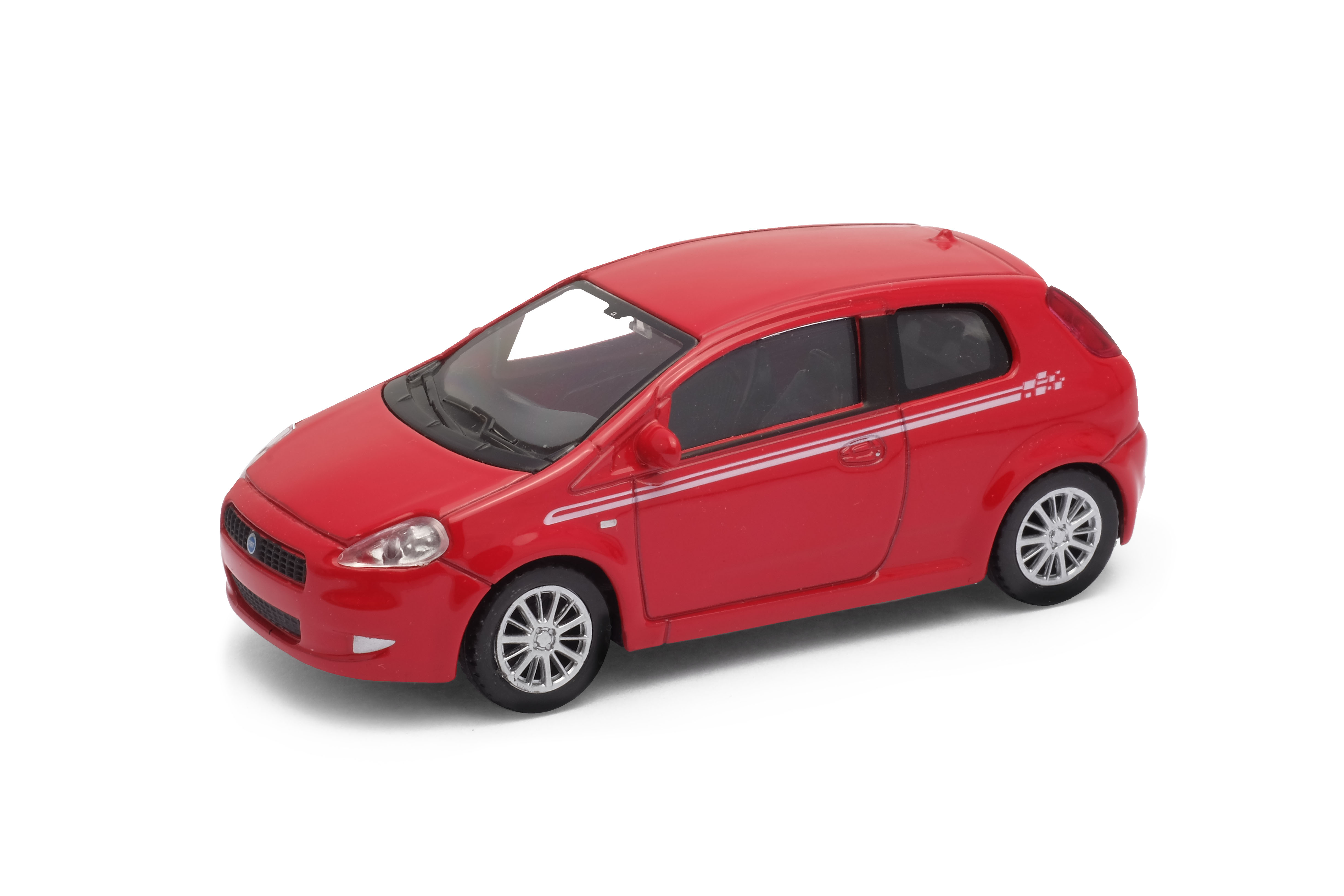 Welly - Fiat Grande Punto model 1:43 červený sport