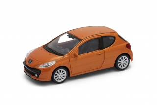 Welly - Peugeot 207 model 1:43, hnědá