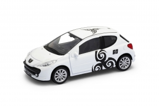 Welly - Peugeot 207 model 1:43 bílá